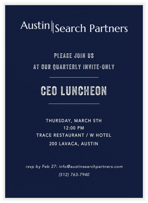 CEO lunch invite 03-05-15